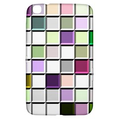 Color Tiles Abstract Mosaic Background Samsung Galaxy Tab 3 (8 ) T3100 Hardshell Case  by Simbadda