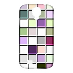 Color Tiles Abstract Mosaic Background Samsung Galaxy S4 Classic Hardshell Case (pc+silicone) by Simbadda
