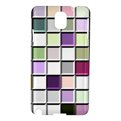Color Tiles Abstract Mosaic Background Samsung Galaxy Note 3 N9005 Hardshell Case by Simbadda