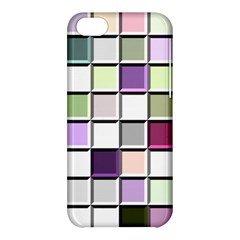Color Tiles Abstract Mosaic Background Apple Iphone 5c Hardshell Case by Simbadda