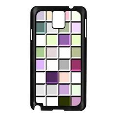 Color Tiles Abstract Mosaic Background Samsung Galaxy Note 3 N9005 Case (black) by Simbadda