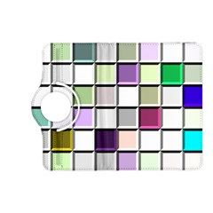 Color Tiles Abstract Mosaic Background Kindle Fire Hd (2013) Flip 360 Case by Simbadda
