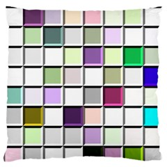 Color Tiles Abstract Mosaic Background Standard Flano Cushion Case (one Side) by Simbadda