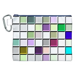 Color Tiles Abstract Mosaic Background Canvas Cosmetic Bag (xxl) by Simbadda