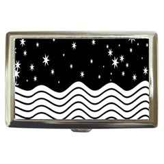 Black And White Waves And Stars Abstract Backdrop Clipart Cigarette Money Cases by Simbadda
