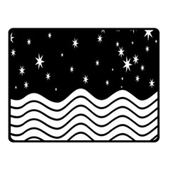 Black And White Waves And Stars Abstract Backdrop Clipart Fleece Blanket (small) by Simbadda