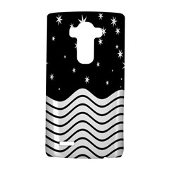Black And White Waves And Stars Abstract Backdrop Clipart Lg G4 Hardshell Case by Simbadda