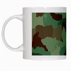 Camouflage Pattern A Completely Seamless Tile Able Background Design White Mugs by Simbadda