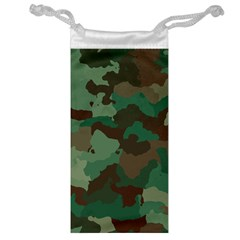 Camouflage Pattern A Completely Seamless Tile Able Background Design Jewelry Bag by Simbadda