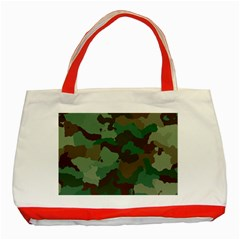 Camouflage Pattern A Completely Seamless Tile Able Background Design Classic Tote Bag (red) by Simbadda