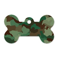 Camouflage Pattern A Completely Seamless Tile Able Background Design Dog Tag Bone (one Side) by Simbadda