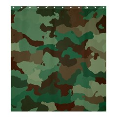 Camouflage Pattern A Completely Seamless Tile Able Background Design Shower Curtain 66  X 72  (large)  by Simbadda