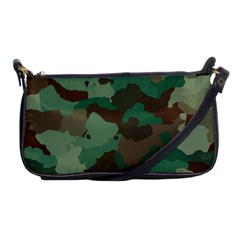 Camouflage Pattern A Completely Seamless Tile Able Background Design Shoulder Clutch Bags by Simbadda