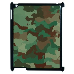 Camouflage Pattern A Completely Seamless Tile Able Background Design Apple Ipad 2 Case (black) by Simbadda