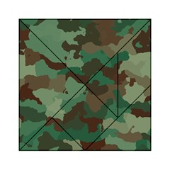 Camouflage Pattern A Completely Seamless Tile Able Background Design Acrylic Tangram Puzzle (6  X 6 ) by Simbadda