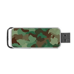 Camouflage Pattern A Completely Seamless Tile Able Background Design Portable Usb Flash (two Sides) by Simbadda