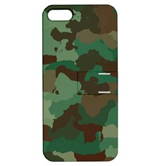 Camouflage Pattern A Completely Seamless Tile Able Background Design Apple Iphone 5 Hardshell Case With Stand by Simbadda