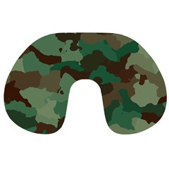 Camouflage Pattern A Completely Seamless Tile Able Background Design Travel Neck Pillows by Simbadda
