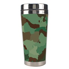 Camouflage Pattern A Completely Seamless Tile Able Background Design Stainless Steel Travel Tumblers by Simbadda