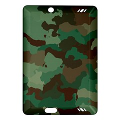 Camouflage Pattern A Completely Seamless Tile Able Background Design Amazon Kindle Fire Hd (2013) Hardshell Case by Simbadda
