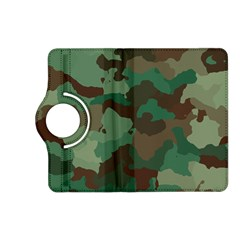 Camouflage Pattern A Completely Seamless Tile Able Background Design Kindle Fire Hd (2013) Flip 360 Case by Simbadda