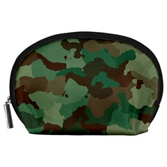 Camouflage Pattern A Completely Seamless Tile Able Background Design Accessory Pouches (large)  by Simbadda