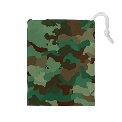 Camouflage Pattern A Completely Seamless Tile Able Background Design Drawstring Pouches (large)  by Simbadda