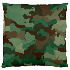 Camouflage Pattern A Completely Seamless Tile Able Background Design Standard Flano Cushion Case (two Sides) by Simbadda
