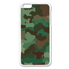 Camouflage Pattern A Completely Seamless Tile Able Background Design Apple iPhone 6 Plus/6S Plus Enamel White Case by Simbadda