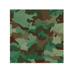 Camouflage Pattern A Completely Seamless Tile Able Background Design Small Satin Scarf (square) by Simbadda