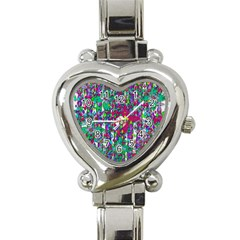 Sunny Roses In Rainy Weather Pop Art Heart Italian Charm Watch by pepitasart
