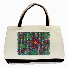 Sunny Roses In Rainy Weather Pop Art Basic Tote Bag (two Sides) by pepitasart