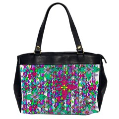 Sunny Roses In Rainy Weather Pop Art Office Handbags (2 Sides)  by pepitasart