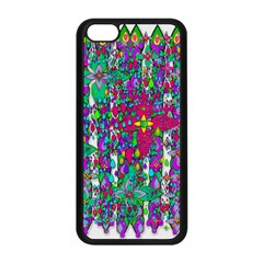 Sunny Roses In Rainy Weather Pop Art Apple Iphone 5c Seamless Case (black) by pepitasart