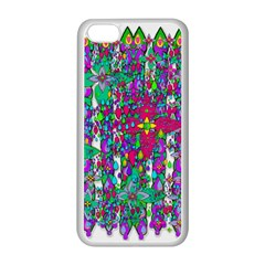 Sunny Roses In Rainy Weather Pop Art Apple Iphone 5c Seamless Case (white) by pepitasart