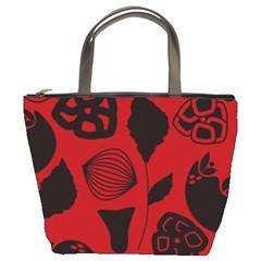 Congregation Of Floral Shades Pattern Bucket Bags by Simbadda