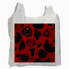 Congregation Of Floral Shades Pattern Recycle Bag (one Side) by Simbadda