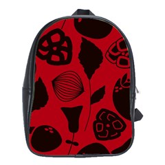 Congregation Of Floral Shades Pattern School Bags(large)  by Simbadda