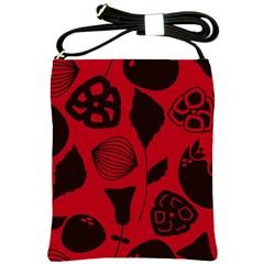 Congregation Of Floral Shades Pattern Shoulder Sling Bags by Simbadda