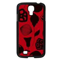 Congregation Of Floral Shades Pattern Samsung Galaxy S4 I9500/ I9505 Case (black) by Simbadda