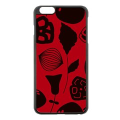 Congregation Of Floral Shades Pattern Apple Iphone 6 Plus/6s Plus Black Enamel Case by Simbadda