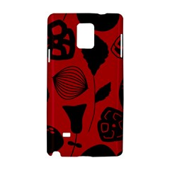 Congregation Of Floral Shades Pattern Samsung Galaxy Note 4 Hardshell Case by Simbadda