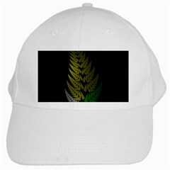 Drawing Of A Fractal Fern On Black White Cap by Simbadda