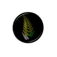 Drawing Of A Fractal Fern On Black Hat Clip Ball Marker (10 Pack) by Simbadda