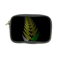 Drawing Of A Fractal Fern On Black Coin Purse by Simbadda