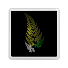 Drawing Of A Fractal Fern On Black Memory Card Reader (square)  by Simbadda