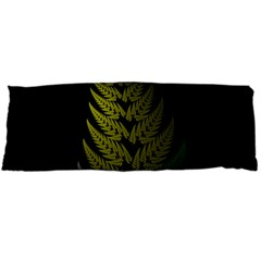 Drawing Of A Fractal Fern On Black Body Pillow Case (dakimakura) by Simbadda