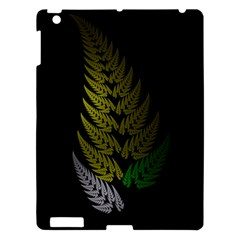 Drawing Of A Fractal Fern On Black Apple Ipad 3/4 Hardshell Case by Simbadda