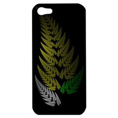 Drawing Of A Fractal Fern On Black Apple Iphone 5 Hardshell Case by Simbadda
