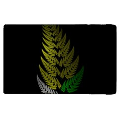 Drawing Of A Fractal Fern On Black Apple Ipad 3/4 Flip Case by Simbadda